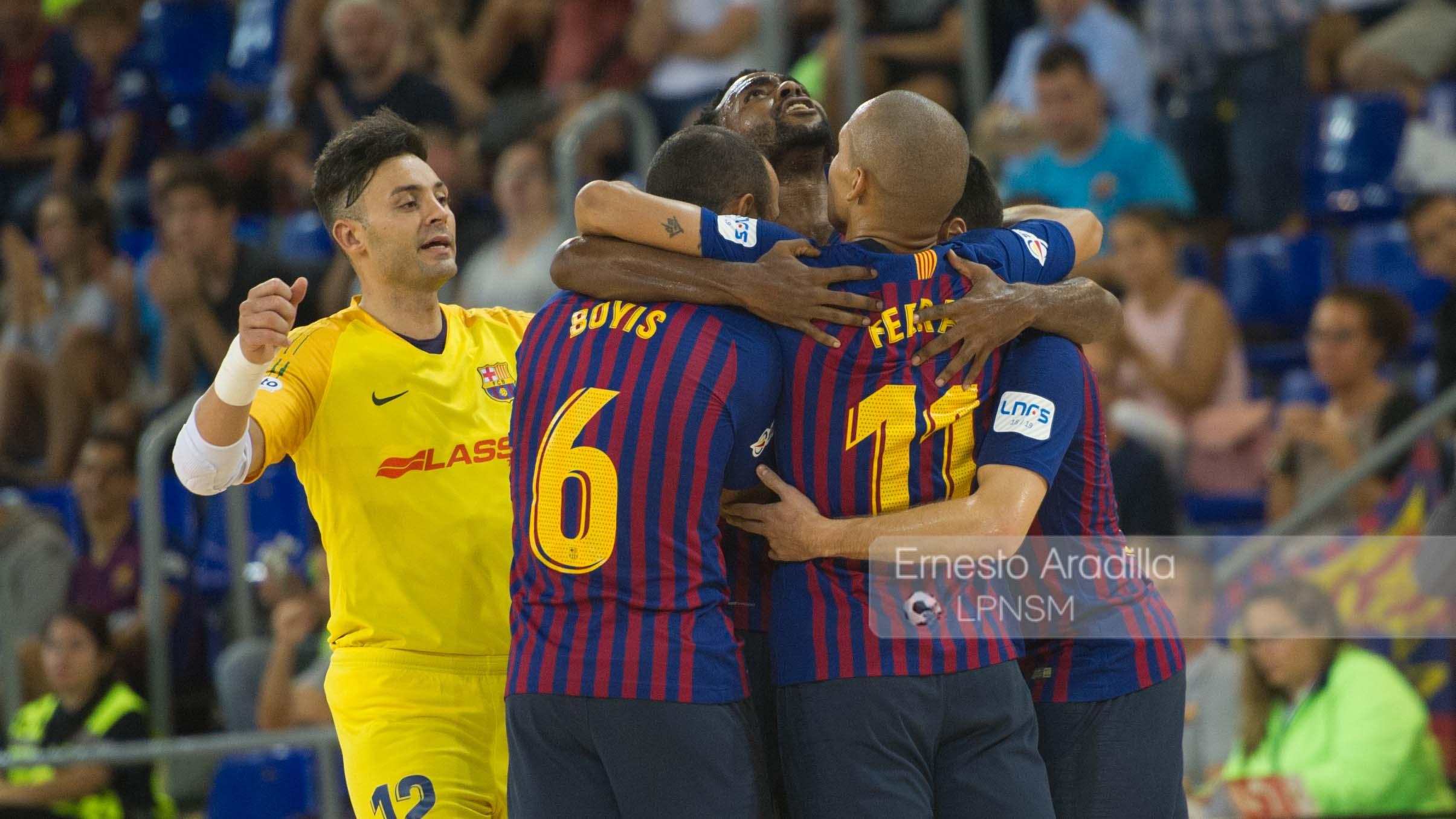El Barça Lassa vence a un Ribera Navarra duro de roer (6-2)