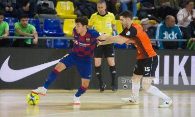 Goleada del Barça ante Aspil Ribera Navarra (6-1)